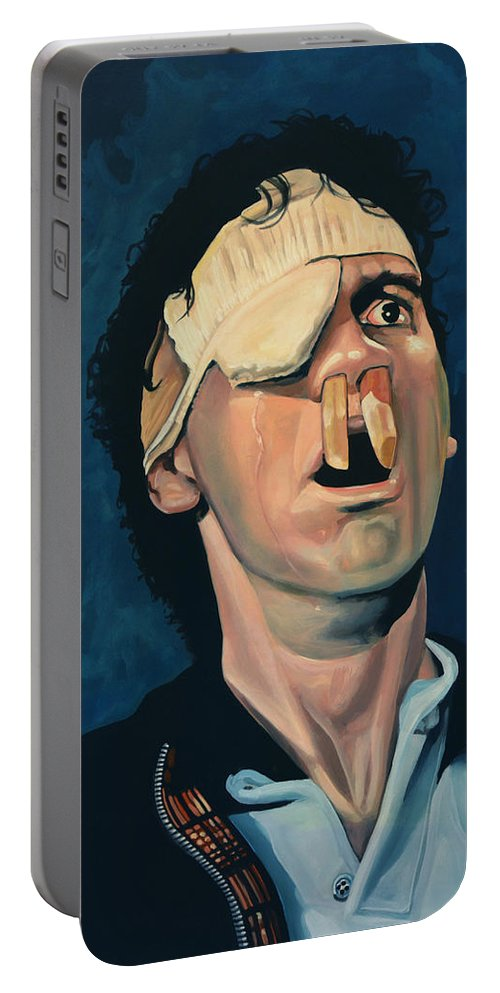 Michael Palin Portable Battery Charger featuring the painting Michael Palin by Paul Meijering