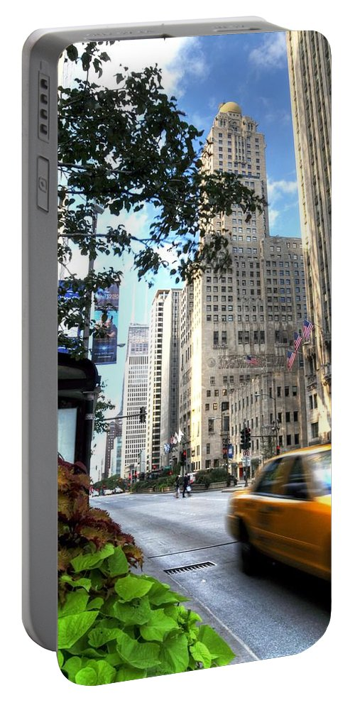 Chicago Portable Battery Charger featuring the photograph Michigan Avenue Chicago Illinois by Patrick Warneka