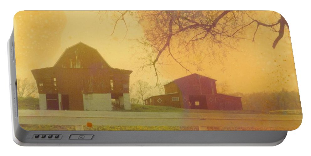 Michigan Fall Scene Portable Battery Charger featuring the photograph Michigan Barns by Robert Floyd