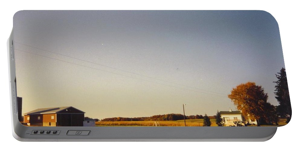 Where I Lived In Lapeer Portable Battery Charger featuring the photograph Michigan Landscapeand Barns by Robert Floyd