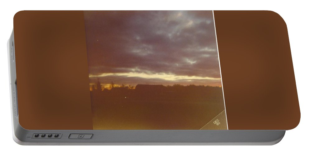 Fall Skies In Michigan.winter Is Coming. Portable Battery Charger featuring the photograph Michigan Skyscape by Robert Floyd