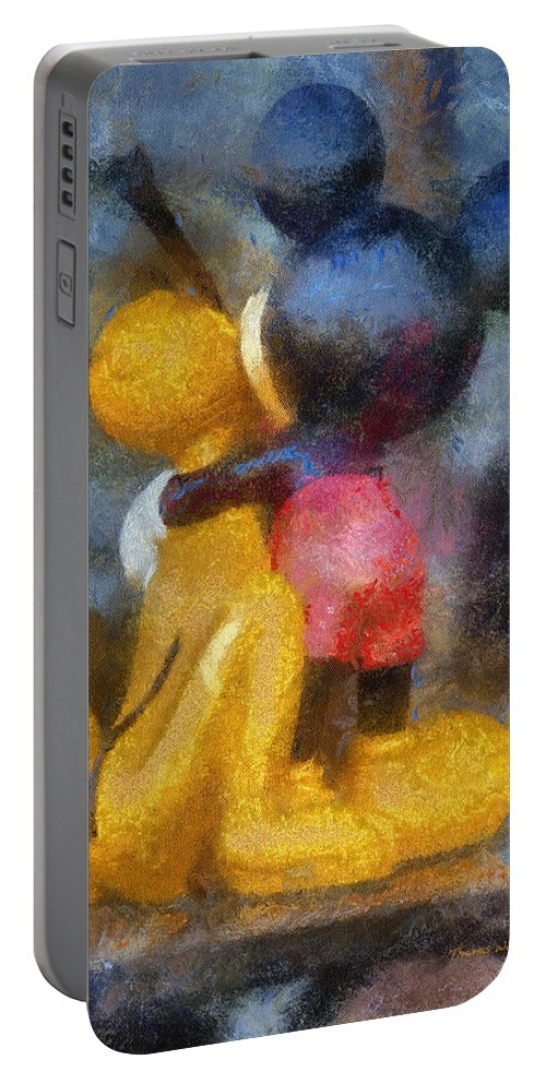 Mickey Mouse Portable Battery Charger featuring the photograph Mickey Mouse Photo Art by Thomas Woolworth