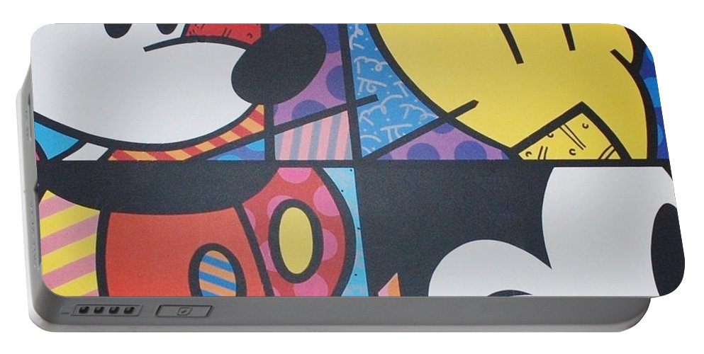 Mickey Mouse Portable Battery Charger featuring the photograph Mickey by Rob Hans