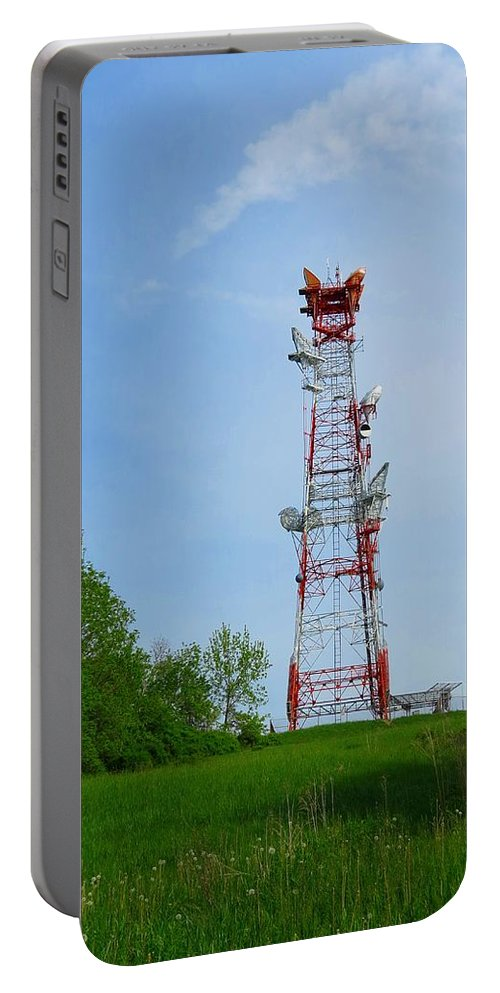 Microwave Tower Portable Battery Charger featuring the photograph Microwave Tower by MTBobbins Photography