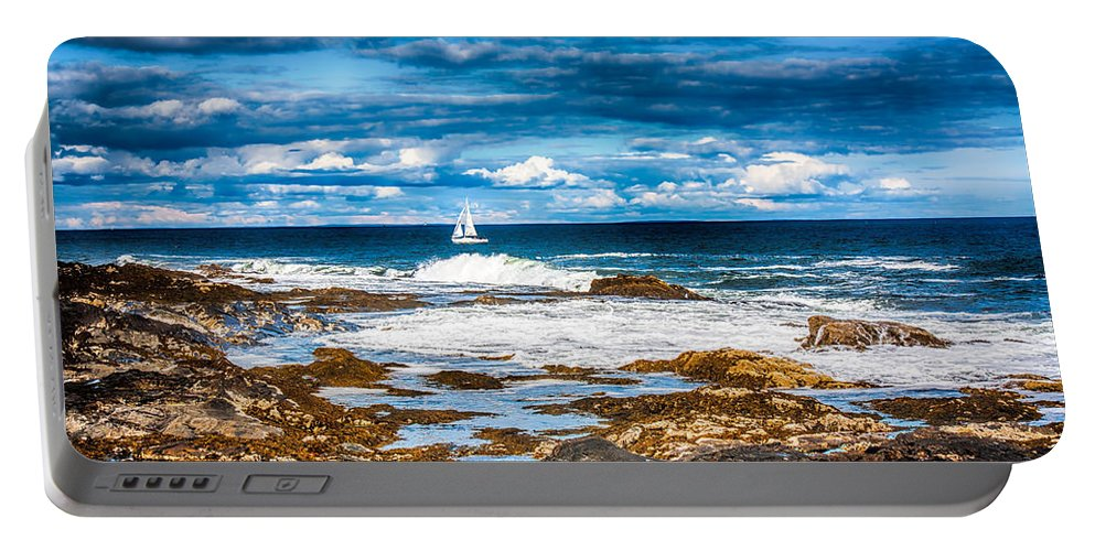 Fred Larson Portable Battery Charger featuring the photograph Midday Sail by Fred Larson
