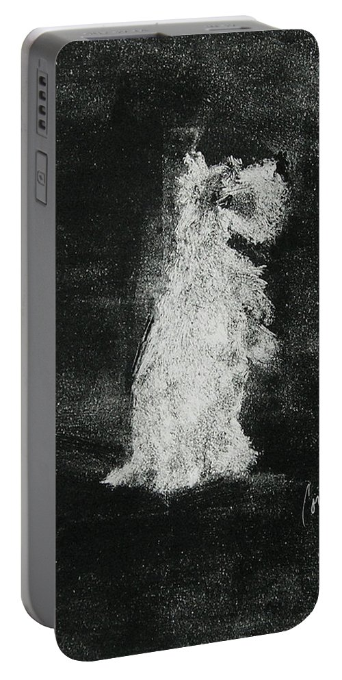 Monotype Portable Battery Charger featuring the mixed media Midnight Sonata by Cori Solomon