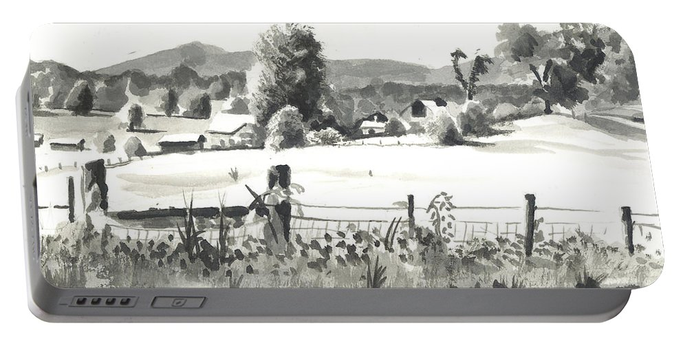 Midsummer View Out Route Jj  No I101 Portable Battery Charger featuring the painting Midsummer View Out Route Jj  No I101 by Kip DeVore
