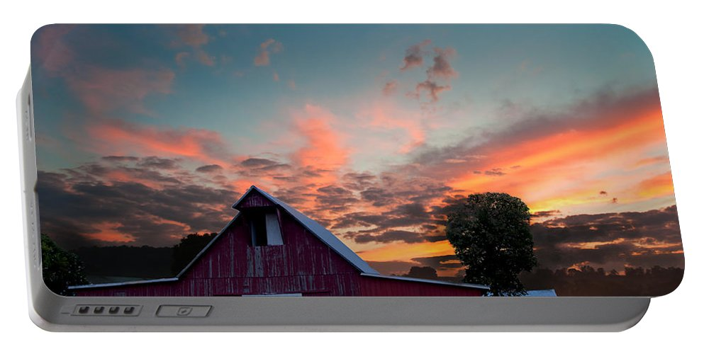 Barn Portable Battery Charger featuring the photograph Midwest Barn by Randall Branham