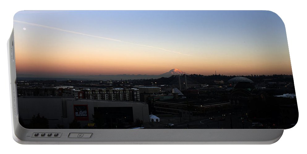 Tacoma Portable Battery Charger featuring the photograph Mighty Tacoma by Edward Hawkins II