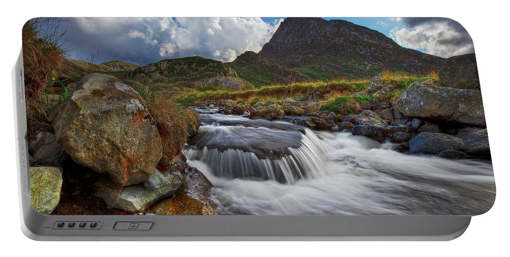 Tryfan Portable Battery Charger featuring the photograph Mighty Tryfan by Beverly Cash