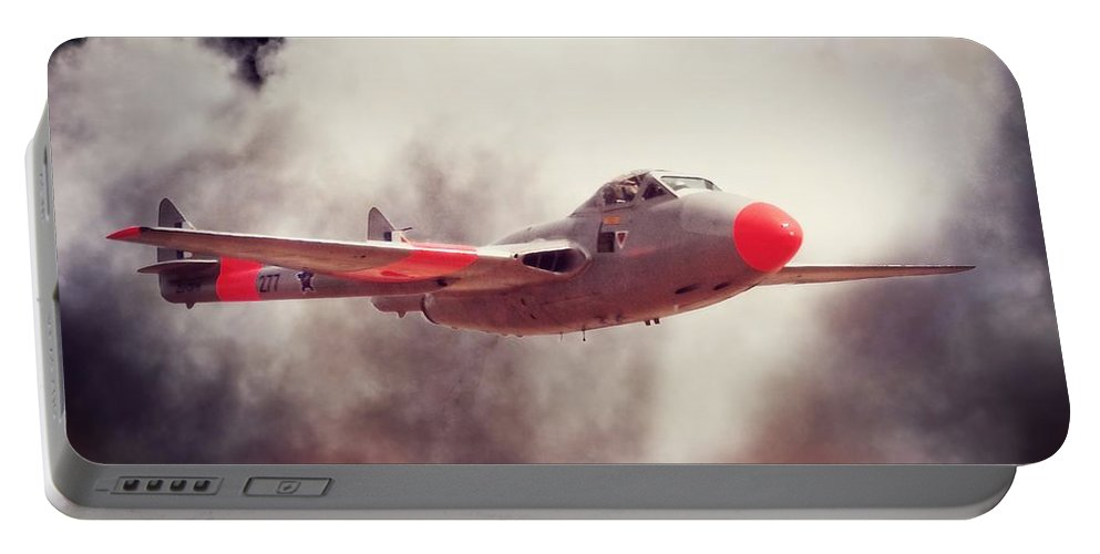 De Havilland Portable Battery Charger featuring the photograph Mighty Vampire by Paul Job