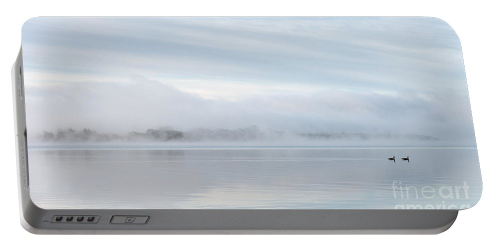 Autumn Portable Battery Charger featuring the photograph Milarrochy In The Mist by Richard Burdon