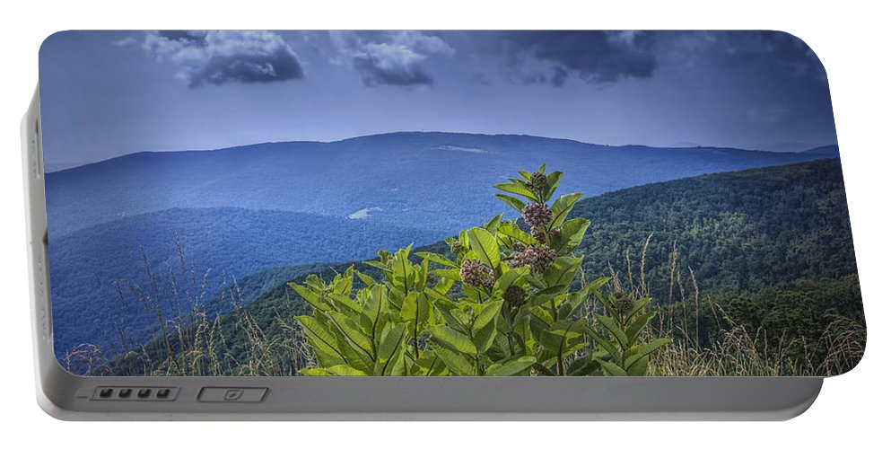 Art Portable Battery Charger featuring the photograph Milkweed Plants Along The Blue Ridge Parkway by Randall Nyhof