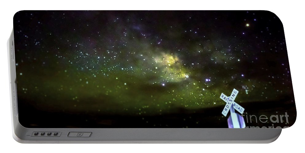 Milkyway Portable Battery Charger featuring the photograph Milkyway Crossing Blur by Along The Trail