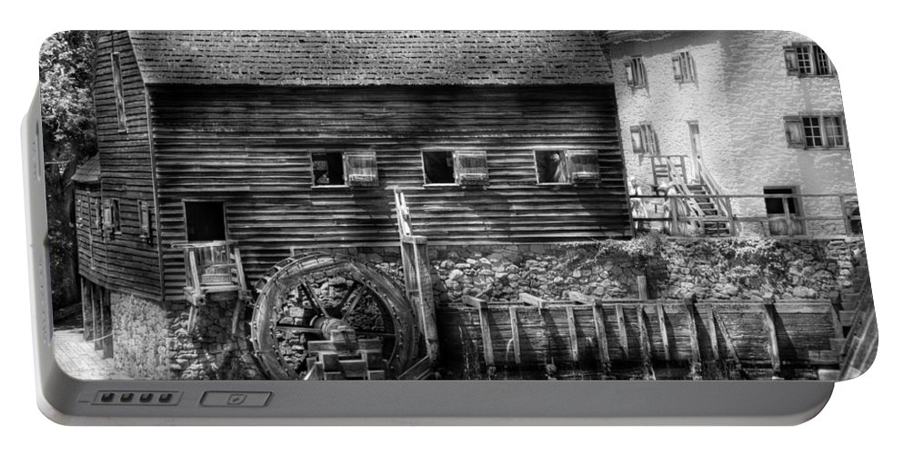 Savad Portable Battery Charger featuring the photograph Mill - Sleepy Hollow Ny - By The Mill by Mike Savad