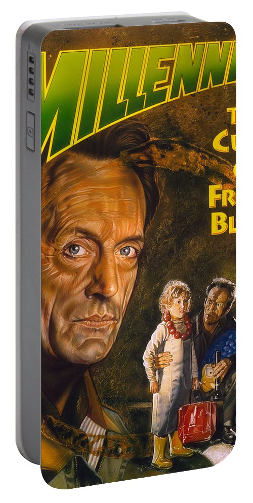 Millennium Portable Battery Charger featuring the painting Millennium by Timothy Scoggins