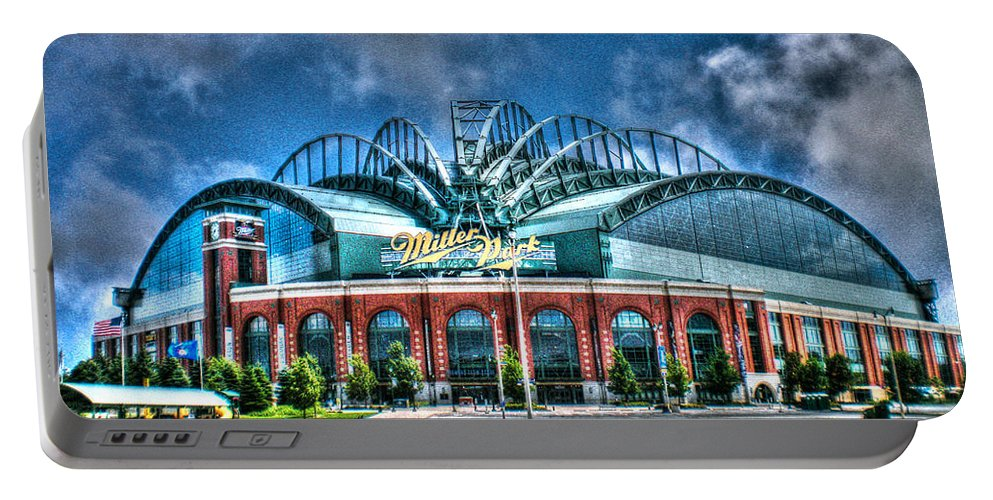 Miller Park Portable Battery Charger featuring the photograph Miller Park by Tommy Anderson
