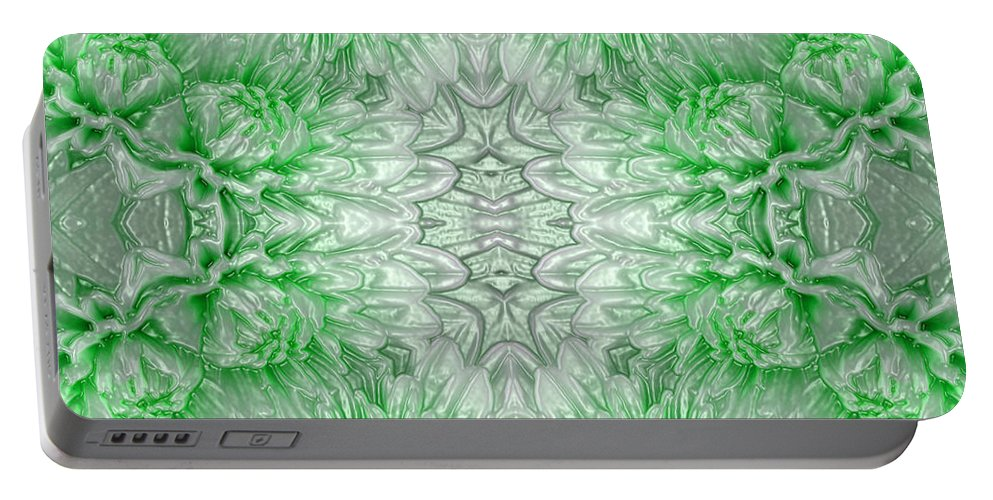 Mineral Portable Battery Charger featuring the digital art Minerals - Emerald by Carlos Vieira