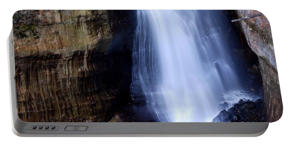 Optical Playground By Mp Ray Portable Battery Charger featuring the photograph Miners Falls II by Optical Playground By MP Ray
