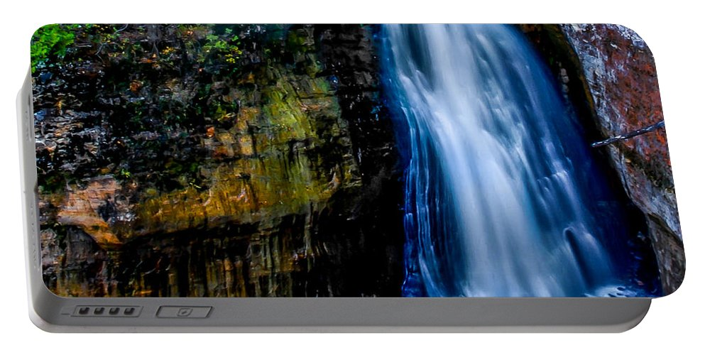 Optical Playground By Mp Ray Portable Battery Charger featuring the photograph Miners Falls IIi by Optical Playground By MP Ray