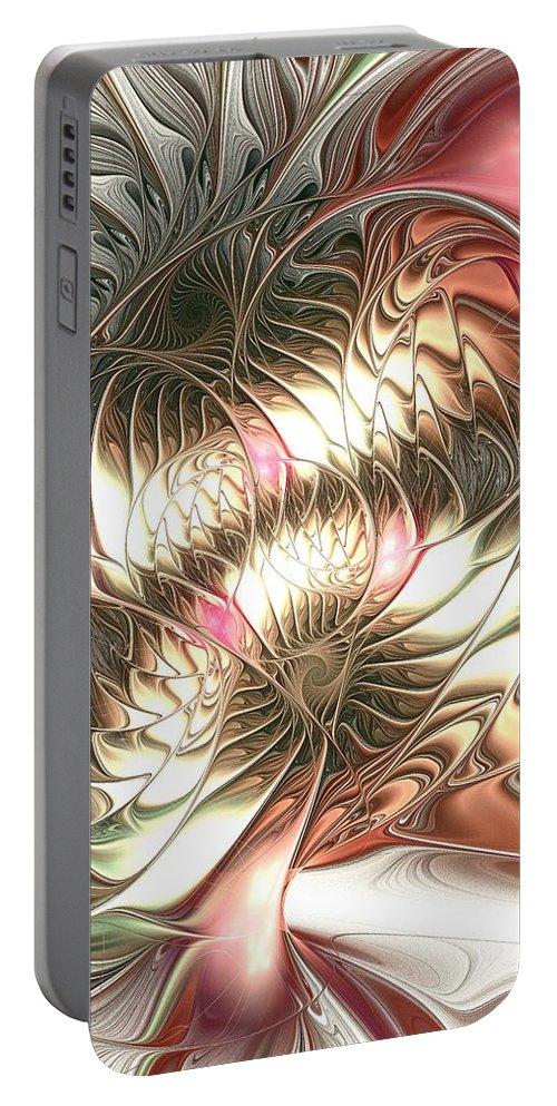 Malakhova Portable Battery Charger featuring the digital art Mingled by Anastasiya Malakhova