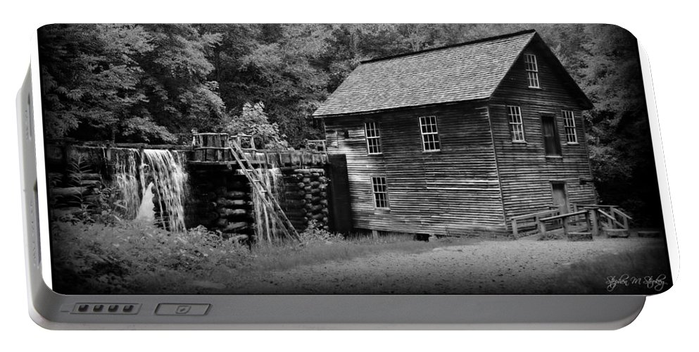 Mingus Mill Portable Battery Charger featuring the photograph Mingus Mill -- Black And White Poster by Stephen Stookey