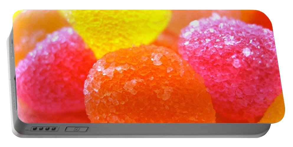 Sugar Fruit Prints Portable Battery Charger featuring the photograph Mini Sugar Fruits by Monique's Fine Art