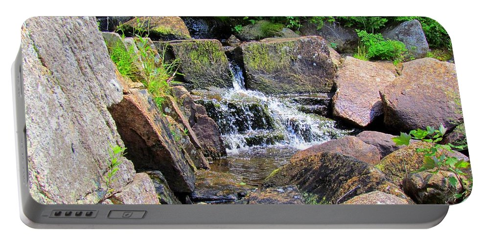 Water Fall Portable Battery Charger featuring the photograph Mini Water Fall by Elizabeth Dow
