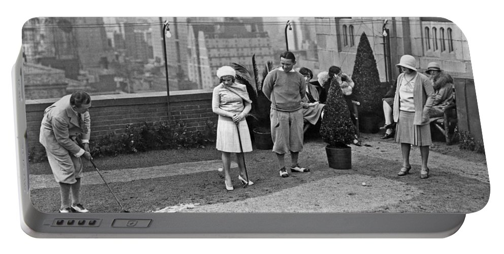 1920s Portable Battery Charger featuring the photograph Miniature Golf In Ny City by Underwood Archives