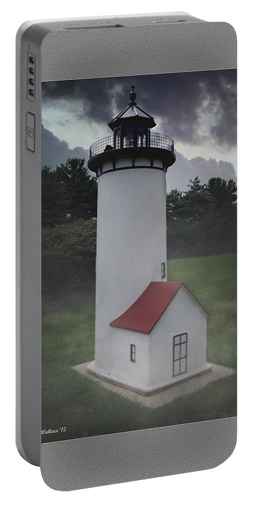 2d Portable Battery Charger featuring the photograph Miniature Lighthouse by Brian Wallace