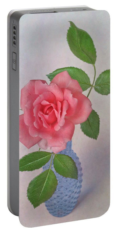 Miniature Rose Portable Battery Charger featuring the photograph Miniature Rose IIi by David and Carol Kelly