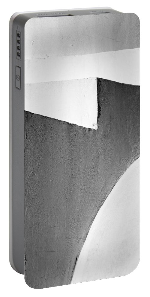 Abstract Portable Battery Charger featuring the photograph Minimal Stairs by Stelios Kleanthous