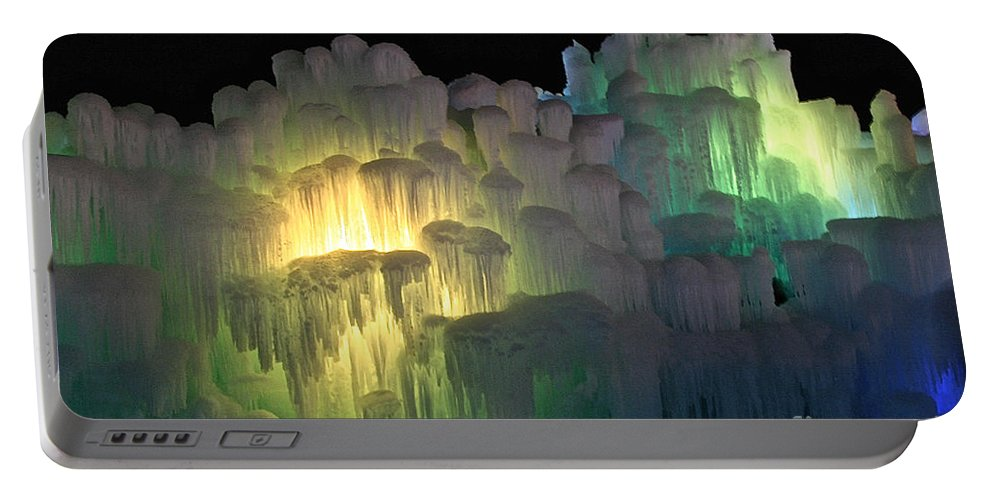 Ice Portable Battery Charger featuring the photograph Minnesota Ice Castle 2013 by Susan Herber