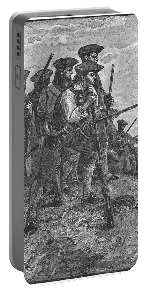 1780s Portable Battery Charger featuring the photograph Minutemen, C1776 by Granger