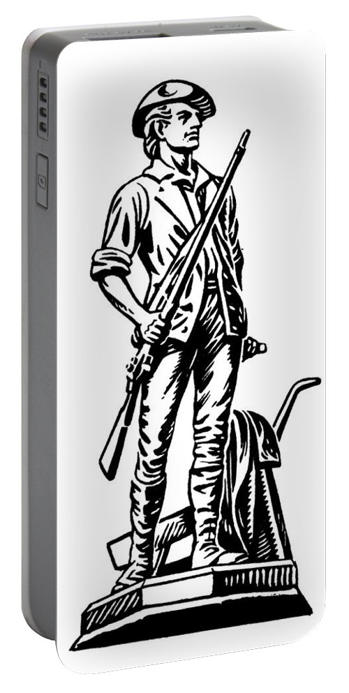 18th Century Portable Battery Charger featuring the photograph Minutemen by Granger