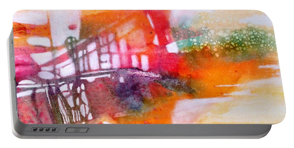Mirage Portable Battery Charger featuring the painting Mirage by Caia Matheson