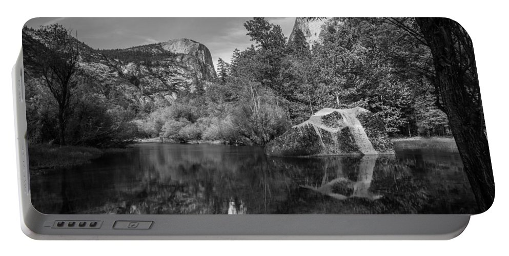 Yosemite Portable Battery Charger featuring the photograph Mirror Lake by Kristopher Schoenleber