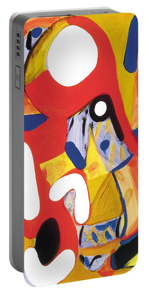 Abstract Art Portable Battery Charger featuring the painting Mirror Of Me 2 by Stephen Lucas