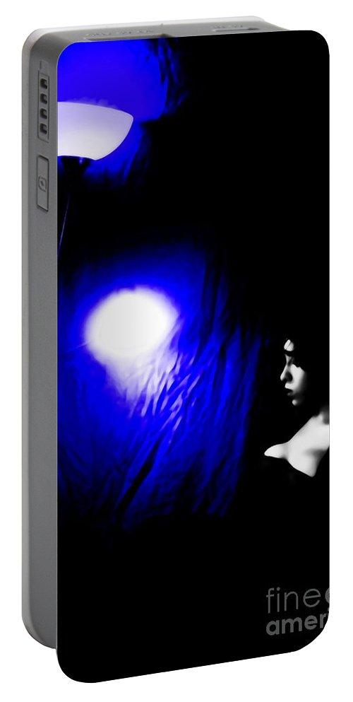 Black Portable Battery Charger featuring the photograph Misery by Jessica Shelton