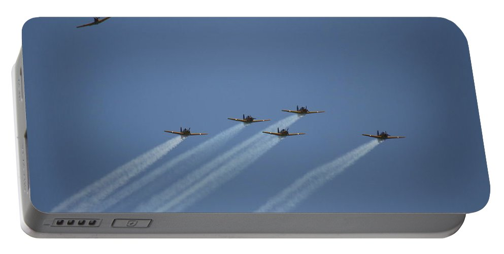 Portable Battery Charger featuring the photograph Missing Man Formation by Sue Conwell