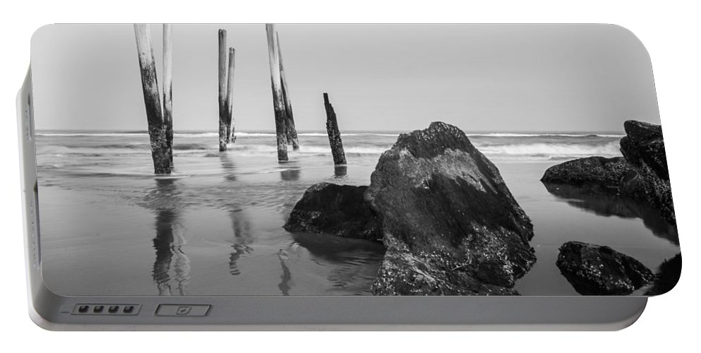 New Jersey Portable Battery Charger featuring the photograph Missing Pier by Kristopher Schoenleber