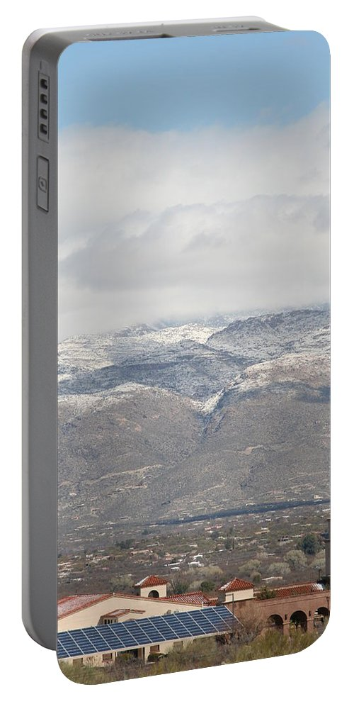 Mission Portable Battery Charger featuring the photograph Mission In Winter by David S Reynolds