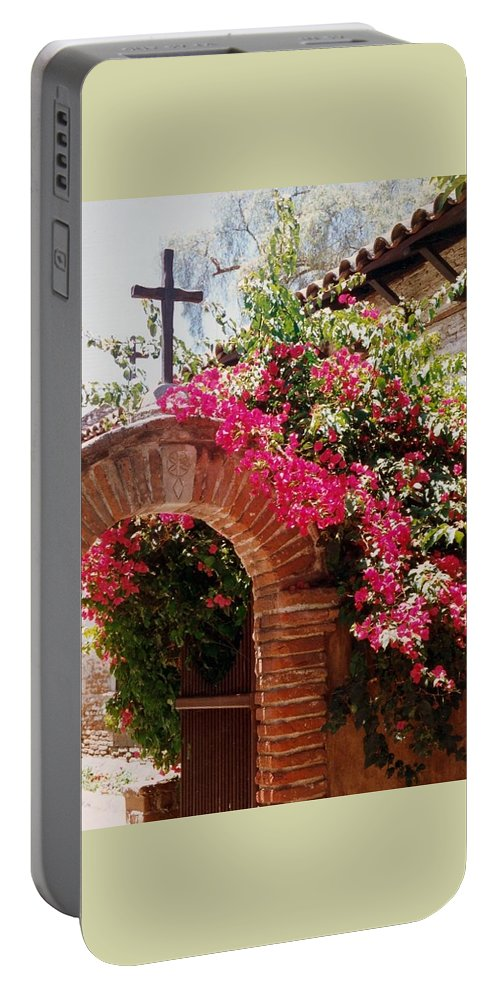 Mission Portable Battery Charger featuring the photograph Mission Series I by Jacqueline Russell