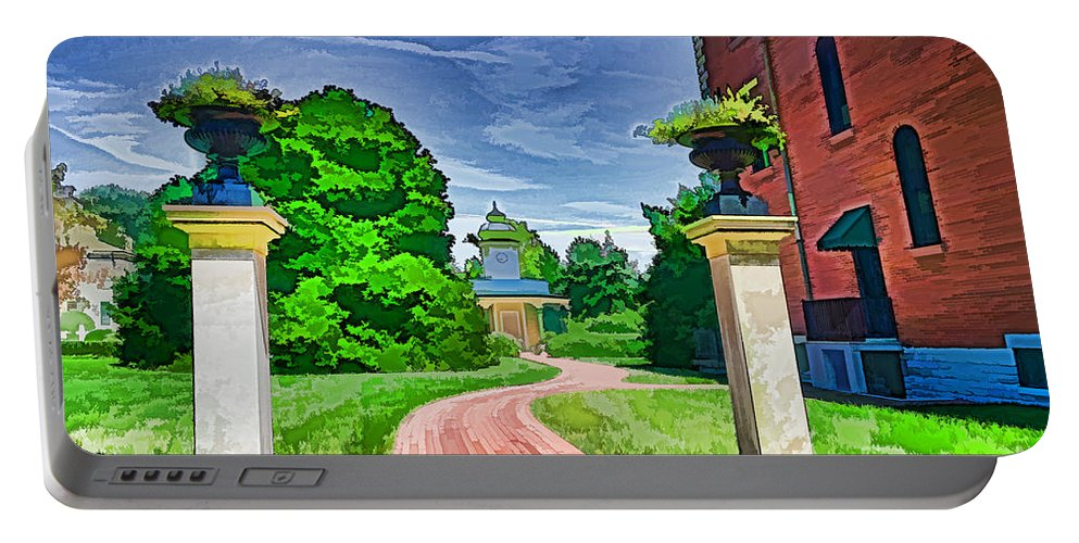 Missouri Portable Battery Charger featuring the photograph Missouri Botanical Garden Pathway by Luther Fine Art