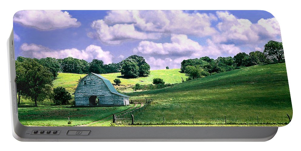 Landscape Portable Battery Charger featuring the photograph Missouri River Valley by Steve Karol