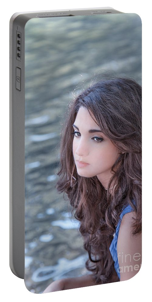 Alone Portable Battery Charger featuring the photograph Mistress Of Dreams by Evelina Kremsdorf