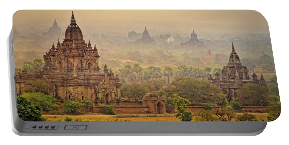 Myanmar Portable Battery Charger featuring the photograph Misty Dawn 2 by Claude LeTien
