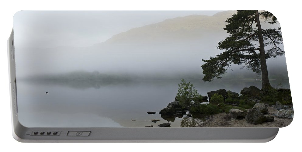Mist Portable Battery Charger featuring the photograph Misty Morning by Gary Eason