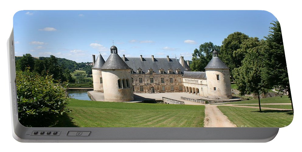 Palace Portable Battery Charger featuring the photograph Moated Palace - Bussy-rabutin by Christiane Schulze Art And Photography