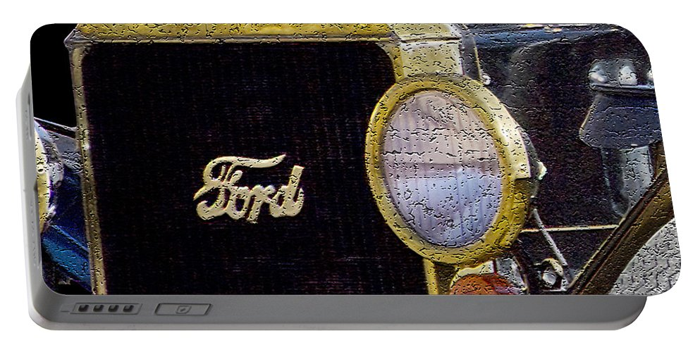 Ford Portable Battery Charger featuring the photograph Model A Ford by Betty LaRue